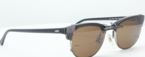 Custom Polarized CLIP ON Sunglasses for Ray Ban CLUBMASTER RB5154 49X21 5154(No Frame) Brown