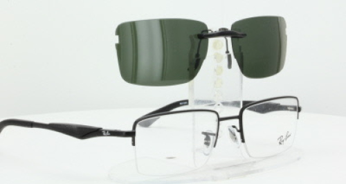 3e68d9ab27 ... order custom fit polarized clip on sunglasses for ray ban rb6285 53x18  rayban 6285 c2d4e f7bcb