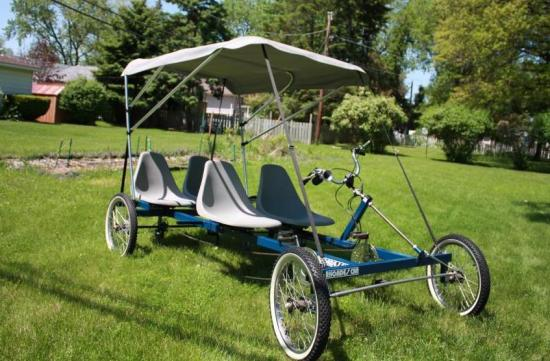 RHOADES CAR 4-PERSON 4-WHEEL BICYCLE CART - PICK UP IL