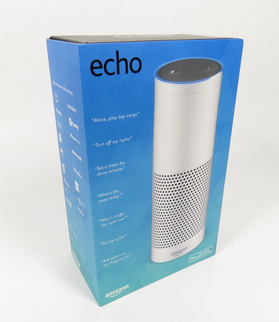 new amazon echo gen 1 white alexa voice enabled smart. Black Bedroom Furniture Sets. Home Design Ideas