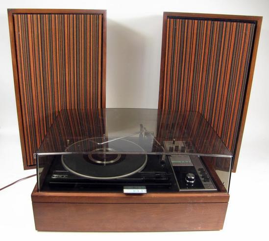 vintage klh model 30 turntable and 8 ohms floor standing speakers ebay. Black Bedroom Furniture Sets. Home Design Ideas