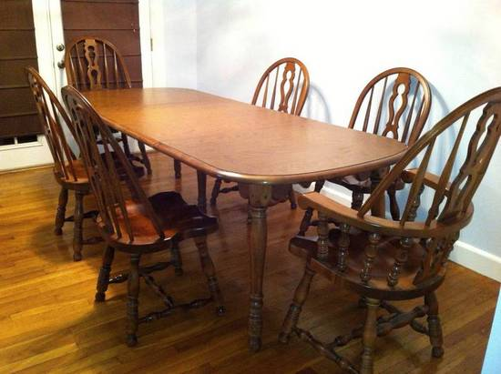 Er Buck Colonial Early American Solid Maple Dining Table W