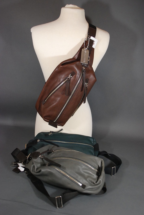 NWT COACH Men Thompson Leather Sling Bag Backpack #70360 ...