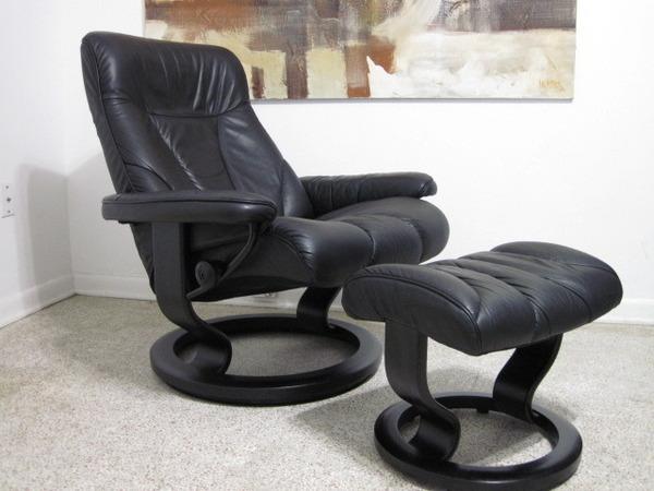 Ekornes Stressless Recliner Lounge Chair Danish Modern