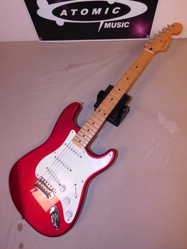 fender jimmy vaughn signature stratocaster made in mexico red mexican strat ebay. Black Bedroom Furniture Sets. Home Design Ideas