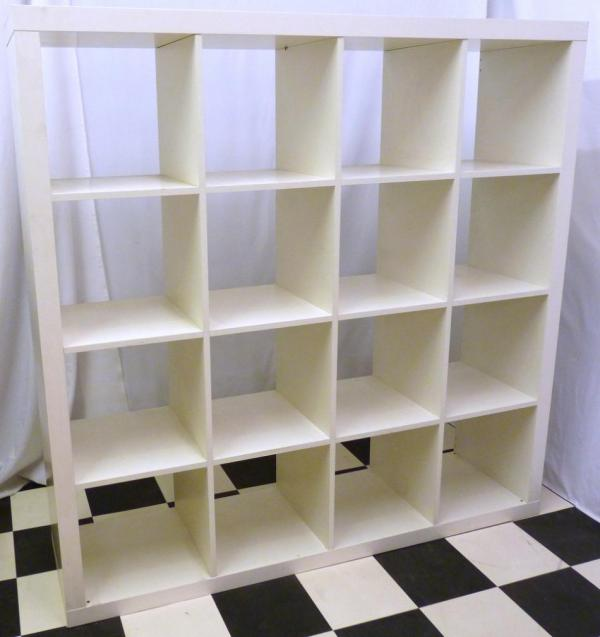 White Ikea Billy Bookshelf Shelving Unit Vinyl Record