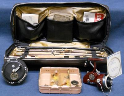 Vintage Martin Combo Fly And Spin Fishing Reels And Rod Travel Kit Ebay