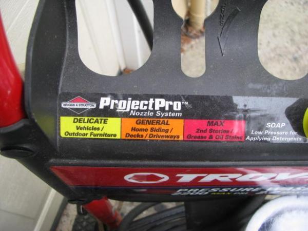 Troy Bilt Pressure Washer 2200psi 2 2 Gpm Project Pro