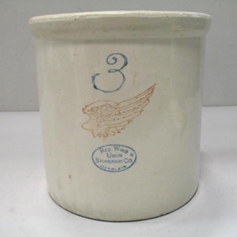Red Wing 3 Gallon Crock Stoneware Minnesota Ebay