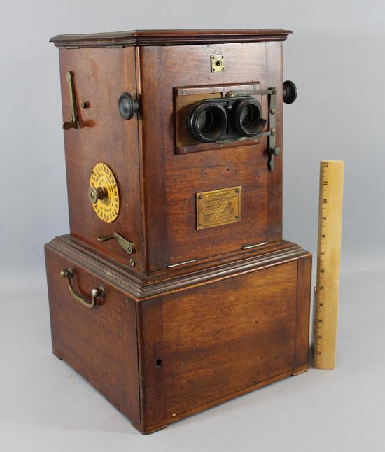 Antique Le Taxiphote Mahogany Stereo Viewer Amp Original