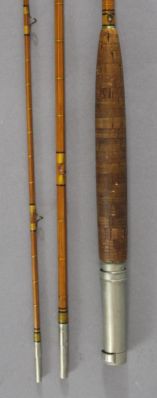 Vintage leonard mills 9ft tournament split bamboo fly for Ebay fishing poles