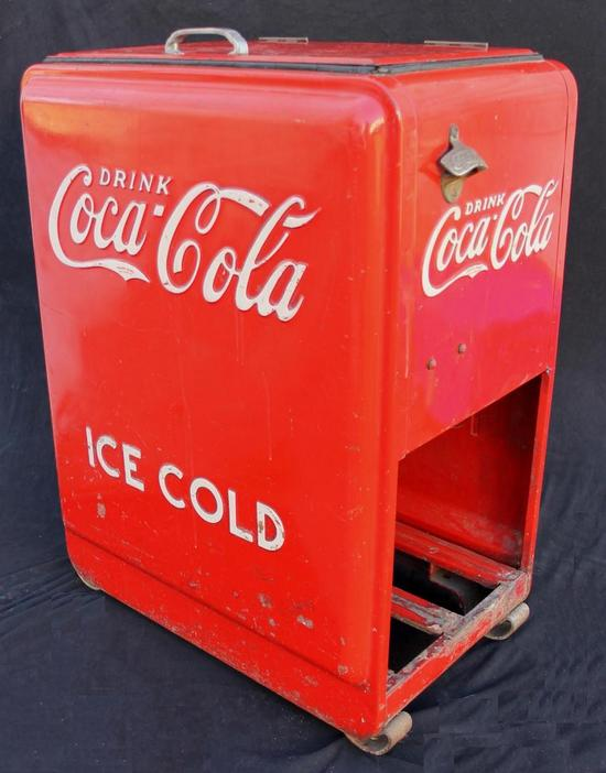 PRICE REDUCED Vintage Coca Cola Cooler and 6 Pack Bottle  Old Coca Cola Coolers