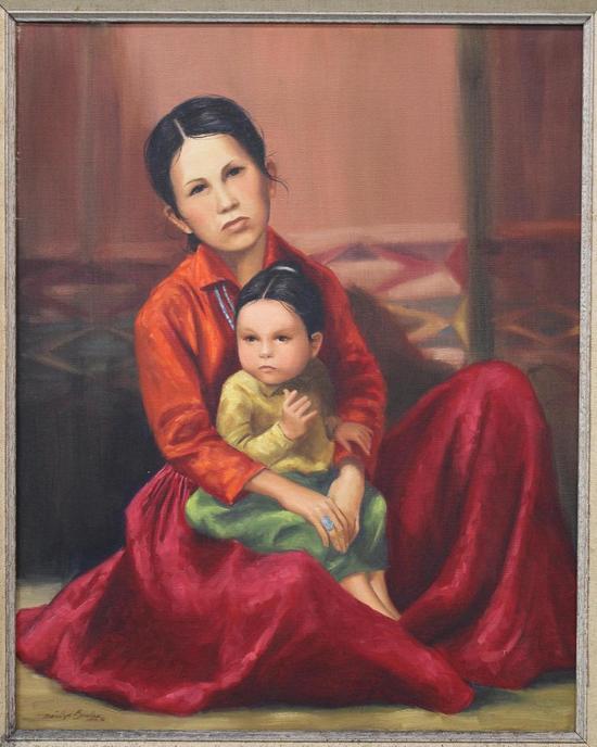 Vintage MARILYN BOWLES Idaho Native American Indian Mother ...